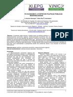 o Desenvolvimento Economico a Partir de Politicas Publicas Regionalizadas