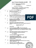 Cusat Dsp Question Paper