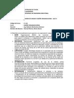 Examen de Unidad II-diseño Organizacional.2017-II-Industrial