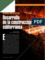 Desarrollo de La Construcción Subterránea