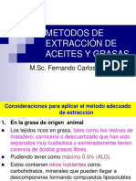 Metodos de Extracción de Aceites y Grasas