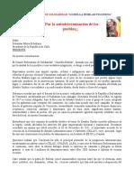 Carta Comite Bolivariano