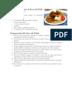 Reseta de Seco de Pollo en Español e Ingles