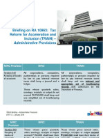 BIR TRAIN Administrative Provisions
