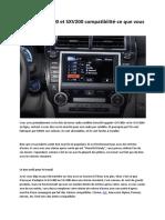 SiriusXM SXV300 Et SXV200 Compatibilité