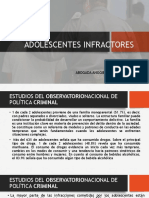 ADOLESCENTES INFRACTORES