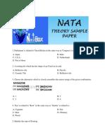 Nata Sample Papers -1(Theory)