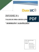 Informe #5 - Hormigón y Albañileria