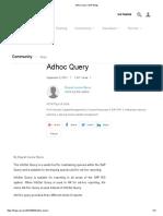 Adhoc Query _ SAP Blogs