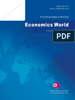 Economics World, Vol.6, No.4, 2018