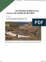 El (Verdadero) Parador de Macho y La Romería (Sin Ermita) de San Blas