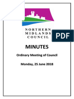 Northern Midlands June meeting minutes