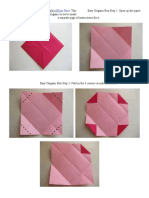 easy origami box step