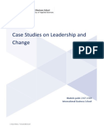 Case Studies on Leadership and Change Module Guide 2017 2018