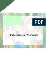 Philosophies of Marketing 31 July 2009