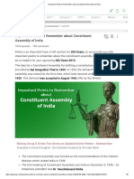 Important Points to Remember About Constituent Assembly of India