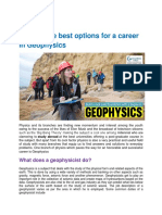 Best Carrer in Geo Physics, Abroad Education Consultants in india