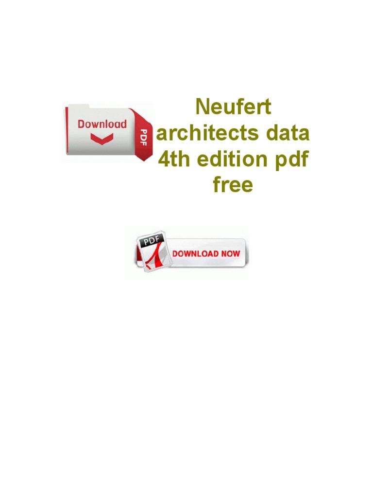 neufert architecture pdf gratuit