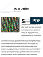 HBR - Deciding How to Decide - Courtney & Lovallo