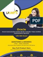 1Z0-404 Dumps PDF - 1Z0-404 Exam Dumps 100% Passing Guarantee