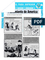 Ficha Poblamiento de America Para Cuarto de Primaria