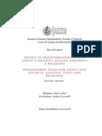 Regole di programmazione per la Safety e Security