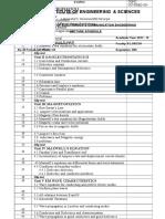 EMTL Lecture Schedule