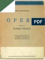 Kogalniceanu Mihail Opere Tomul I Scrieri Istorice