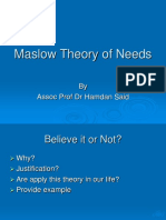 2 C Maslow Theory of Needs