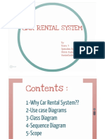UML- Car Rental - UseCase, Class Diagram, Sequence Diagram, Scope