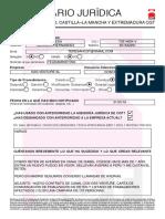 Formulario jurídica