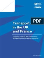 Transport data in the UK and France