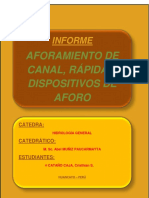 AFORAMIENTO DE UN CANAL, RAPIDA, DISPOSITIVOS DE AFORO.docx