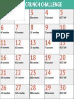 30day Crunch Challenge Chart