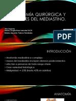Anatomía Quirúrgica y Lesiones Del Mediastino (1)