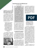 """Automatización de Bibliotecas - Peter Gethin - Revista """"El profesional de la información"""", vol 10, n° 11, noviembre 2001"""