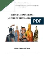 Sinteze Istoria Romanilor Titularizare