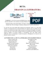 Ruta Madrigueras en La Literatura