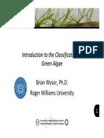Classification Green Algae