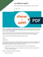 Cómo Instalar CPanel y WHM en CentOS 7