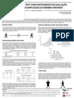 O 2 Minute Walk Test Como Instrumento de Avaliação Funcional Em Amputados Do Membro Inferior