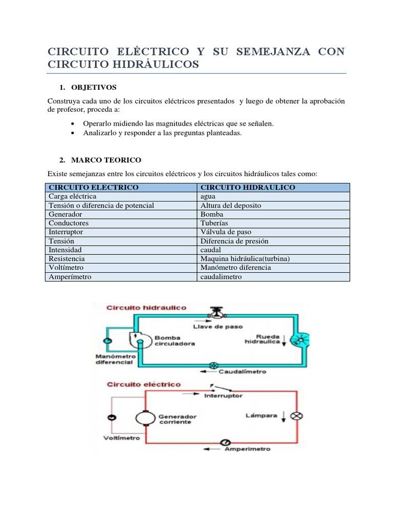 Circuito Hidraulico Mixto : Circuito electrico 2 1