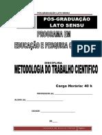 6-APOSTILA - Módulo - Metodologia Do Trabalho Cientifico – 40h