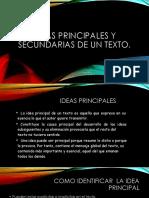 Ideas Principales y Secundarias de Un Texto