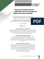 Analisis de Factores Internos de Competividad Caso Empresas Lacteas Colombia