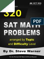 320 SAT Math Problems by dr. warner