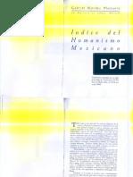 Indice del humanismo mexicano. Méndez Plancarte