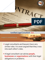 Certified Legal Consultant CLC (Part 1)