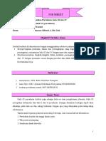 Job Sheet Kala III Dan IV