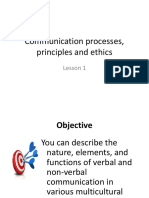 Communication Processes, Principles and Ethics